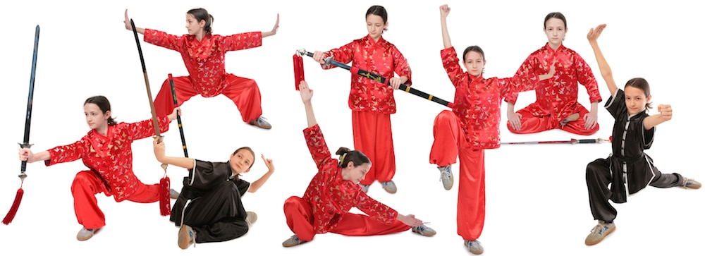 Kung Fu Kids in various Martial Arts postures | Coral Springs, Florida | Kung Fu Connection