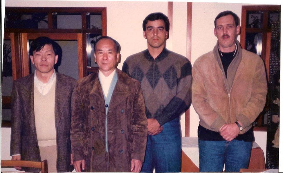 L-R : Lee Chung Deh, Chan Kwok Wai, Roberto Baptista and Jorge Jung of Northern Shaolin Kung Fu